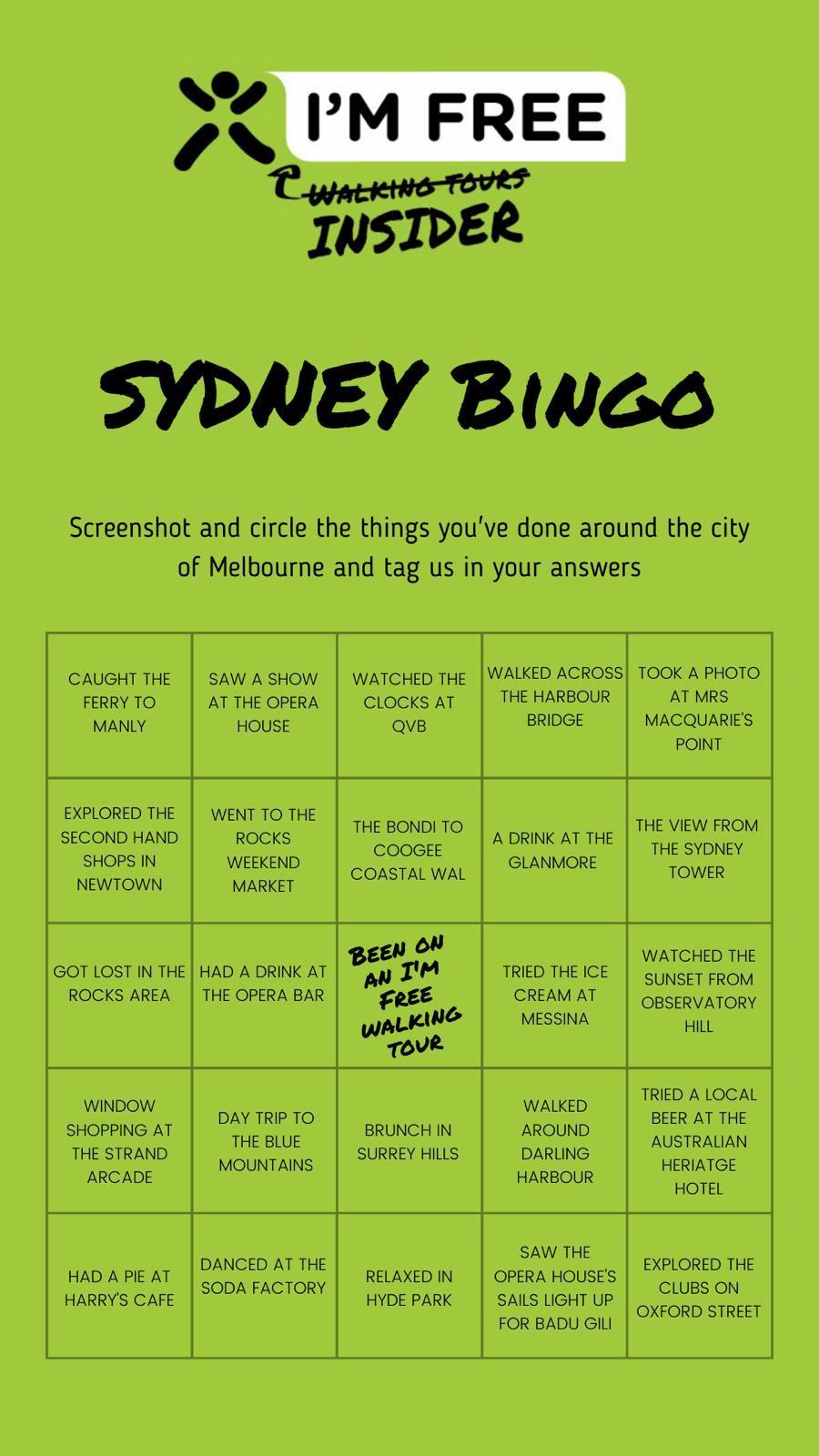 Sydney Bingo