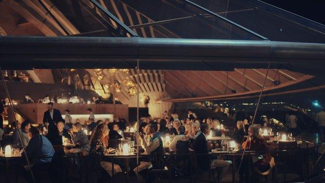 People having dinner at Bennelong Restaurant