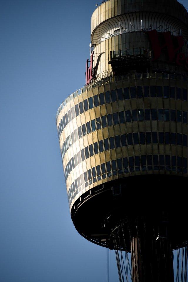 Close up of Sydney Tower