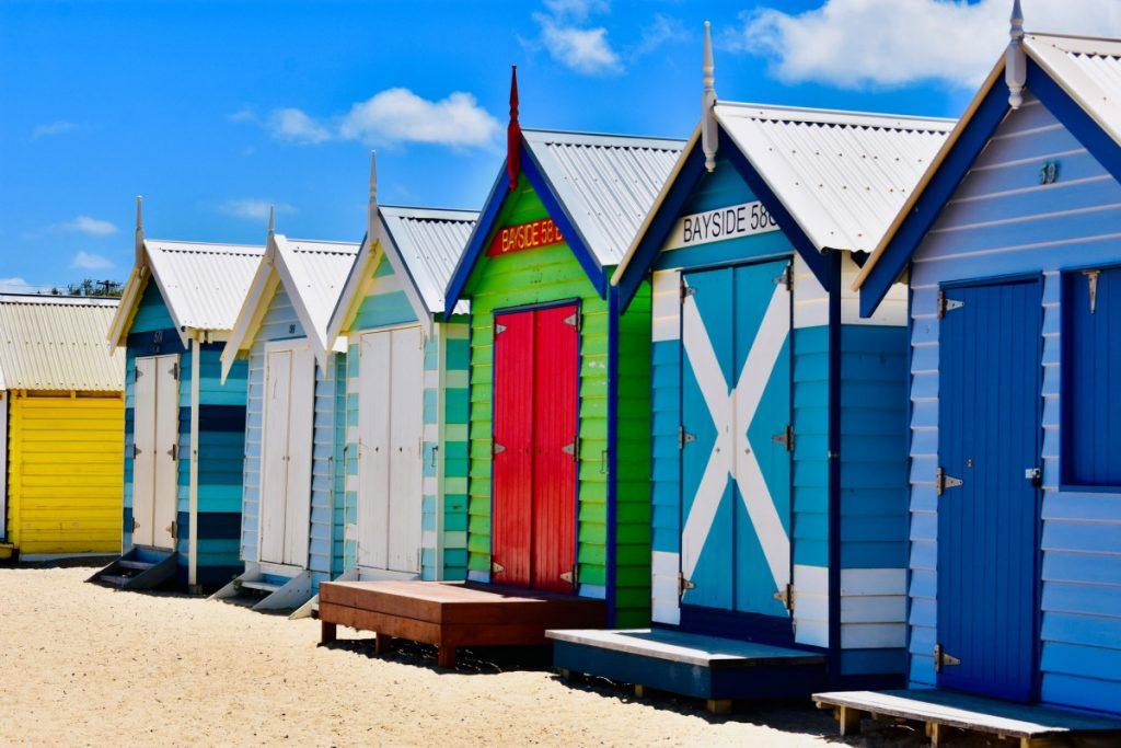 The famous Brighton Beach Bathing boxes